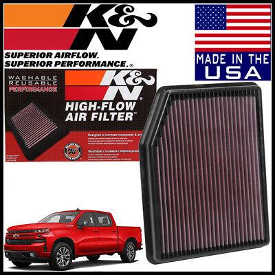 K&N Replacement Air Filter NEW BODY 2019 Silverado 1500 2.7L 4.3L / 5.3L / 6.2L