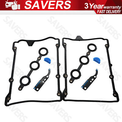 2PCs ROCKER COVER/CYLINDER HEAD GASKET SEAL 078198025 FOR AUDI A4/A6 V6-ENGINE