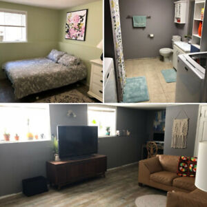 Not a basement suite, but a sweet basement! Available May 1st