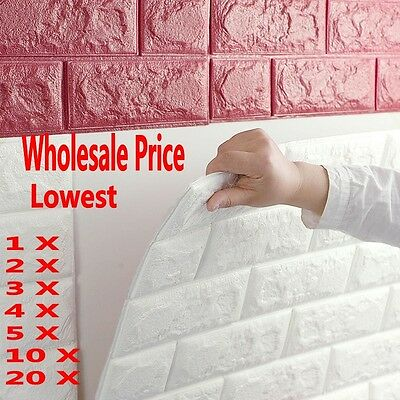 20Rolls Wholesale 3D Brick Pattern Wallpaper Modern  Background TV Bedroom Decor