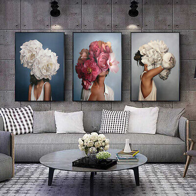 Woman Abstract Canvas Painting Wall Art Print Poster Picture Decorative Painting