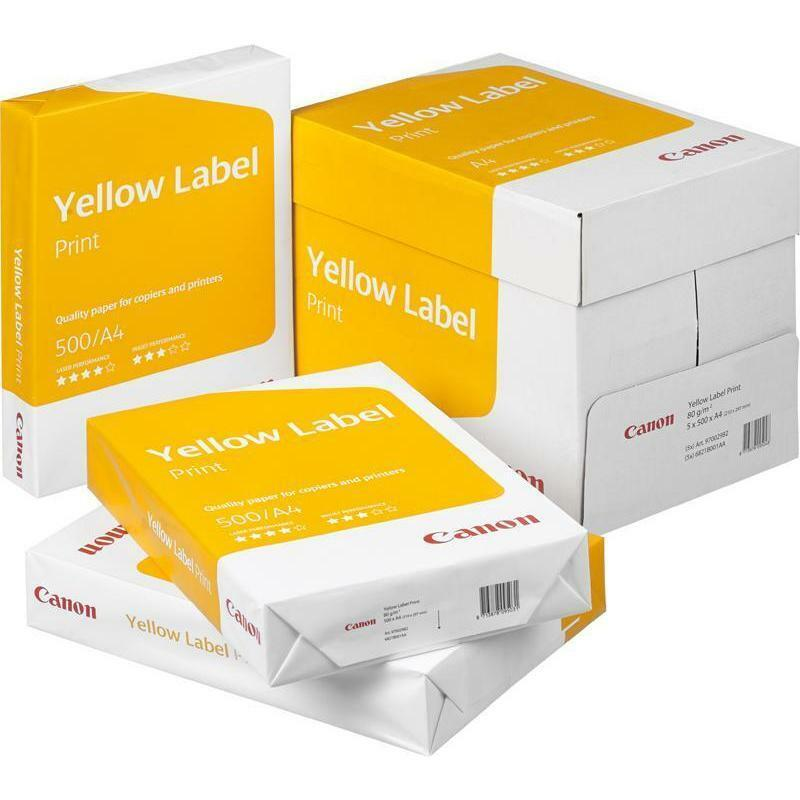Kopierpapier CANON YELLOW LABEL A4 80g 2500 Blatt weiß TOP - Druckerpapier