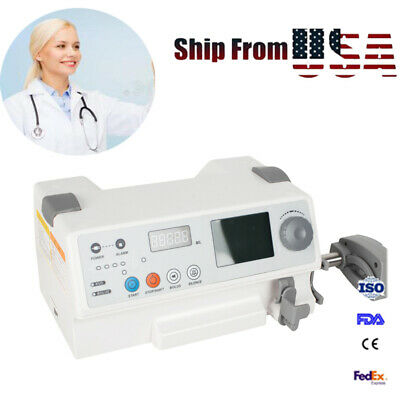 Fda Ce Injection Infusion Syringe Pump Injector Audible Visual Alarm Fluid Warm