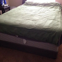 Comfy firm Queen size mattress and box set for sale.