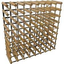 72 Bottle Traditional Wooden Wine Bottle Storage Rack - Assembled - Light Wood