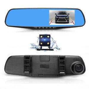 Dash Camera Dual Lens Car Camera, Rear View Reverse Mirror Backu