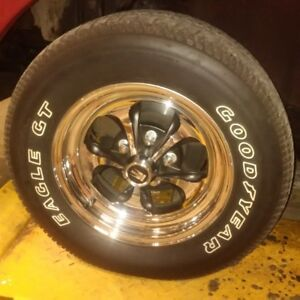 Goodyear Eagle GT period correct show tires, rims NOT included