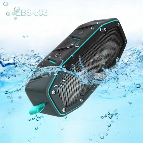 20W Rugged Portable Waterproof Bluetooth Speaker w Bumping Bass Wireless Outdoor