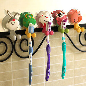 Porte brosse dent ventouse mural support silicone animal toothbrush holder set ebay - Porte brosse a dent ventouse ...