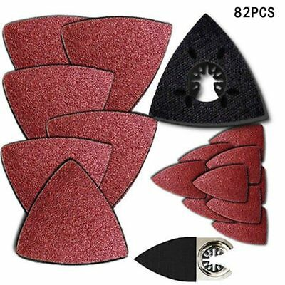 80 Pc Sanding Kit Oscillating Multi Tool Sand Pad Suits For Fein Multimaster Saw