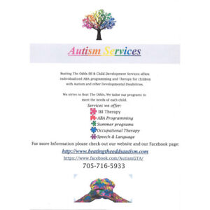 AUTISM SERVICES- Back to School