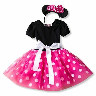Birthday Party Dress Minnie Mouse Dress Up Kid Costume Baby Girls Clothing