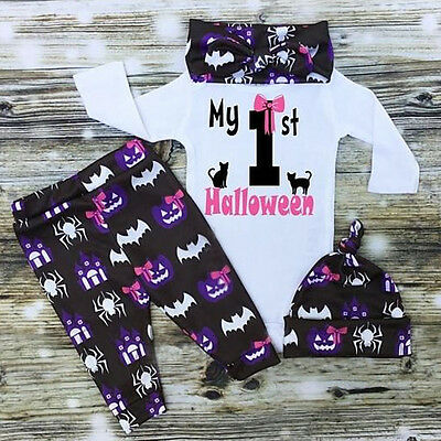 US Halloween Newborn Infant Baby Girls Bodysuit Romper Jumpsuit Clothes Outfits - Newborn Halloween Outfit