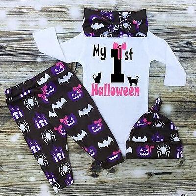 US Halloween Newborn Infant Baby Girls Bodysuit Romper Jumpsuit Clothes Outfits