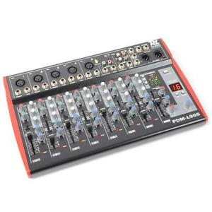 9-KANAL KOMPAKT DJ PA RECORDING MISCHPULT EQ STUDIO MIXER USB DSP EFFEKT MISCHER