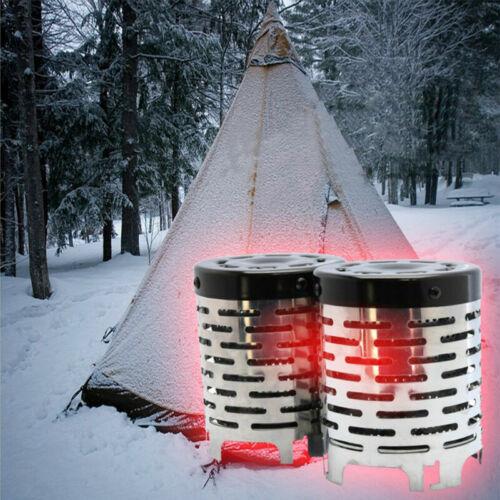 Tragbare Campingzelt Heizung Wärmer Herd Heizung Abdeckung Edelstahl Nützlich