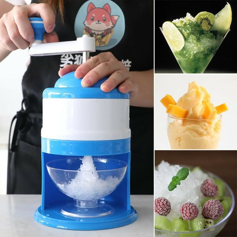 Ice Shaver Hand Crank Manual Ice Crusher Shredding Snow Cone Maker Machine Tool