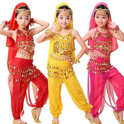Kinder Mädchen Bauchtanz Kostüm Rock Bollywood Halloween Indischer Tanz - Kind Tanz Kostüm