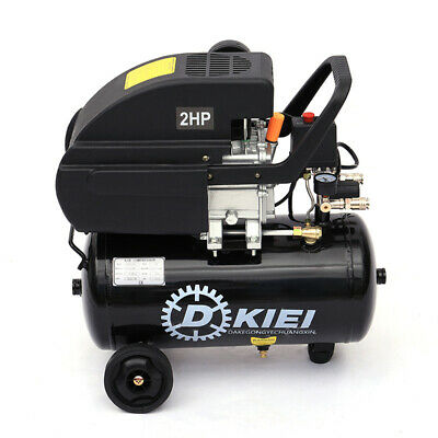 Black Mobile Air Compressor 25L Litre 2.0HP Engine 115PSI 2800RPM Workshop 220V