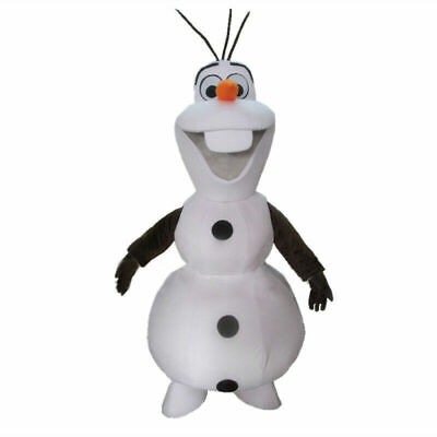 Halloween Christmas Frozen Olaf Mascot Costume Snowman Costumes Adult Size
