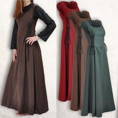 Medieval Renaissance Women  Retro Sleeveless Dress Party Palace Cosplay Costume - Retro Party Costumes