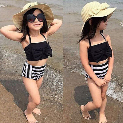 Kinder Mädchen Sommer Schwimmbar Bademode Badeanzug Bikini Tankini Satz ღ ()