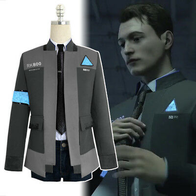 Detroit  Become Human Connor Rk800 Cosplay Costume Suit Outfit Mens Jacket Cos
