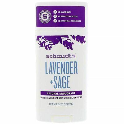 SCHMIDT'S - Natural Desodorante en Barra Lavanda + Salvia - 96ml (92G)