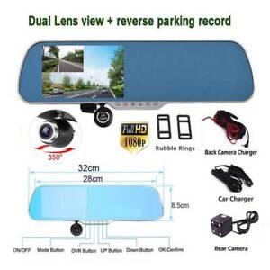3in1 5in CD Screen Dual Camera Car Rearview Blue Mirror Car DVR Doveton Casey Area Preview