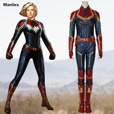 Ms Marvel Costume Captain Marvel Carol Danvers Cosplay Halloween Leather Outfits