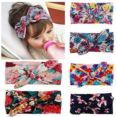 Newborn Kids Girls Baby Headband Toddler Cute Bow Flower Hair Band Accessories