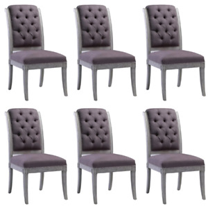 Nouveaux 6 Chaises de Diner, New Set of 6 Pcs Dining Chairs