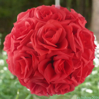 (Silk Flower Kissing Balls Wedding Centerpiece 6-Inch Wedding Ball decoration QD5)