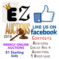 Weekly Online Auctions on Facebook !