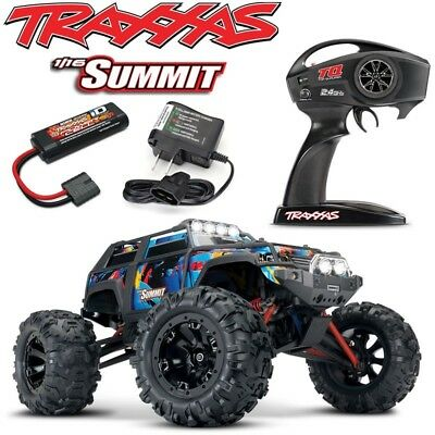 Traxxas 1/16 Summit Brushed 4WD RTR RC Truck Rock-N-Roll Body Battery & Charger! ()