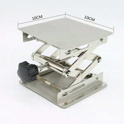 Silver Drill Lift Table Bench Lifter Lifting Router Lab Stainless Steel Parts