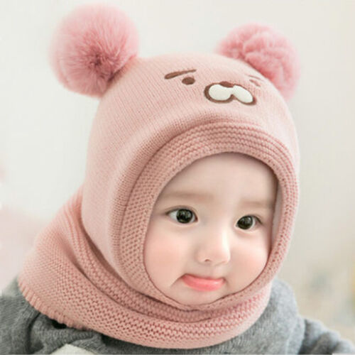 Toddler Baby Infant Girl&Boy Winter Warm Crochet Knit Hat Be
