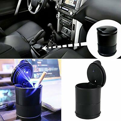 PORTABLE CAR AUTO TRUCK LED CIGARETTE SMOKE ASHTRAY ASH CYLINDER CUP HOLDER UK