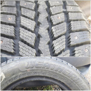 Full studded set weathermaster 185/65r 14 86t winter tires