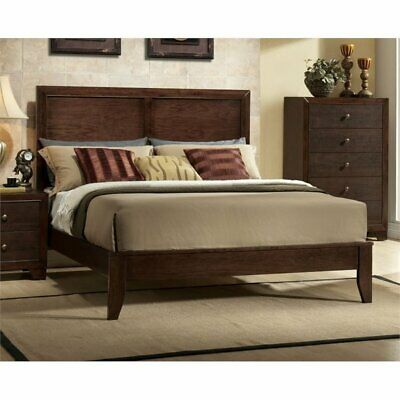 Bowery Hill California King Panel Bed in Espresso