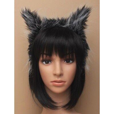 Werwolf Ohren / Stirnband Kostüm Verkleidung Zubehör Wolf Einheitsgröße