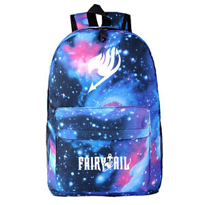 Anime Fairy Tail Canvas Backpack Shoulder Bag School Bag Cosplay Prop Gift