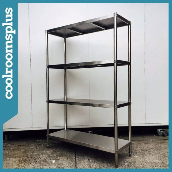 Commercial Kitchen Stainless Steel Shelving Unit 400kg Load Dandenong South Greater Image 2 1 Of 10