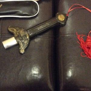 Vintage 27-93cm Chinese Telesopic magic Retractable Sword set