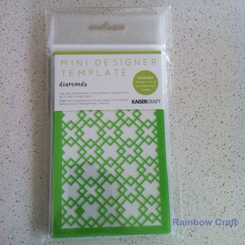 Kaisercraft Mini Designer Templates Stencils Blossom Christmas Holly Leaves - Diamonds
