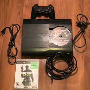 Fully functional PS3 with Minecraft, COD and Controller