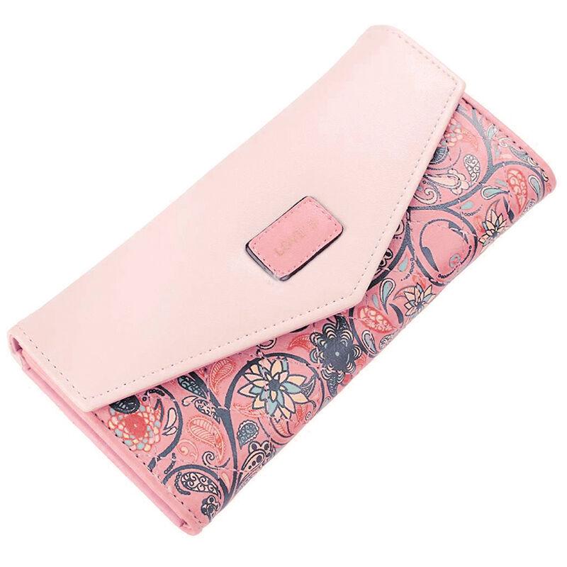 Damen Portemonnaie Geldbörse Geldbeutel Portmonee Blumen Lederbörse Brieftasche Wassermelone Rot