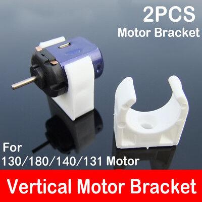 2PCS 20mm Seat Mount For 130 131 140 180 Motor White Vertical Bracket Fixture