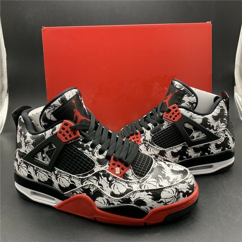 c42333cae4153 ... hot nike air jordan retro 4 8ngloy black red white all sizes available  free uk delivery