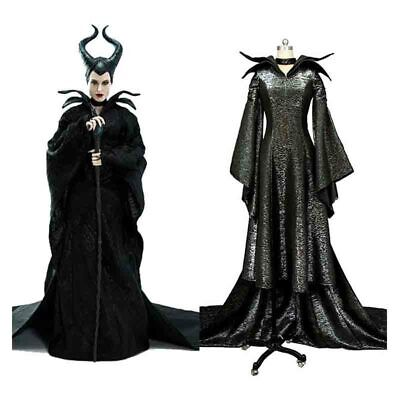 Maleficent Gown (Maleficent Christening Black Gown Disney Movie Halloween Deluxe Adult)